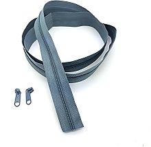 Grey Continuous Zip & Sliders No. 3 Zippers