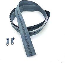 Grey Continuous Zip & Sliders No. 5 Zippers