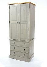 Grey Corona 2 Door, 3 Drawer Wardrobe
