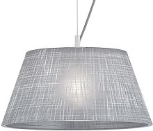 Grey Ester glass pendant light in a linen design