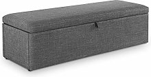 Grey Fabric Blanket Box, Happy Beds Sorrento
