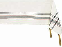 Grey French Stripe Tablecloth - Extra Large