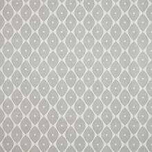 Grey Geometric Ovals PVC Vinyl Oilcloth Wipe Clean