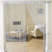 Grey Glam Glitter Sparkle Lurex String Screen
