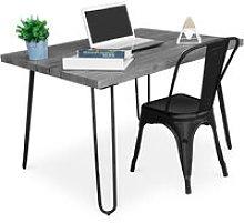 Grey Hairpin 120x90 Desk + Tolix Chair Black