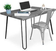 Grey Hairpin 120x90 Desk + Tolix Chair Silver