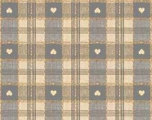 Grey Hearth Check PVC Vinyl Wipe Clean Tablecloth