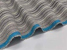 Grey Herringbone Stripes Upholstery Fabric by The