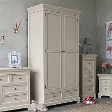 Grey Large Double Wardrobe - Daventry Taupe-Grey