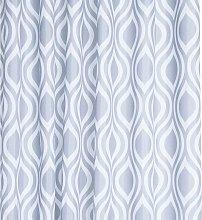 Grey Medallion Textile Shower Curtain - Croydex