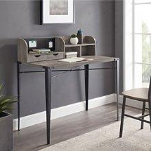 Grey & Metal Office Desk - Industrial - 42