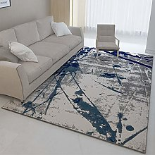 Grey modern abstract large rug ink home