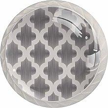 Grey Moroccan Islamic Pattern Drawer Knobs Pulls