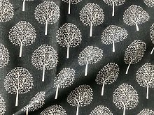 Grey Mulberry Tree Cotton Linen Fabric Natural