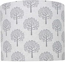 Grey Mulberry Tree Linen Print Lampshade (20 cm