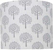Grey Mulberry Tree Linen Print Lampshade (40 cm