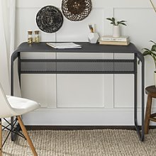 Grey Office Desk with Rounded Edges - 42