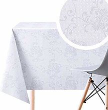 Grey Orient Wipe Clean Tablecloth - Oriental