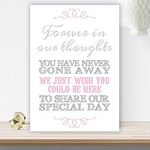 Grey Pink Wedding Memorial Table Forever In