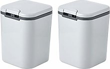 Grey Recycling Bins for Kitchen 2 x 2.5L, Small
