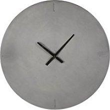 Grey resin clock D80cm