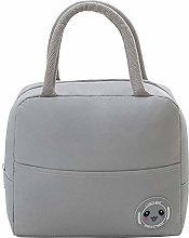 Grey Reusable Insulated Lunch Bags for Women,Lunch