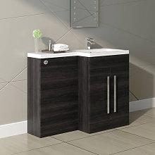 Grey Right Hand Bathroom Furniture Combination