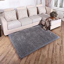 Grey Shaggy Area Fluffy Rug Floor Carpet, 60x110CM