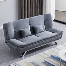 Grey Shell 3 Seater Recliner Sofa Bed