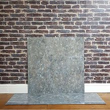 Grey Slate Marble Effect HPL Laminate Fireplace