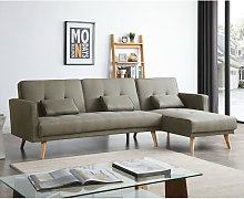 Grey Sofa Bed 3 to 4 Seater L Shaped Adjustable 3