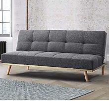 Grey Sofa Bed, Happy Beds Snug Grey Upholstered