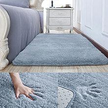 Grey Soft Shaggy Rugs Fluffy Area Rug Carpet
