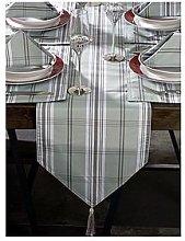 Grey Tartan 13-Piece Table Linen Set