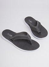 Grey Toe Post Flip Flops - L
