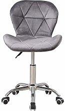 Grey Velvet Desk Chair for Home Office Chair