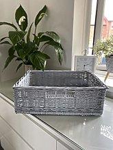 Grey Willow Under Bed Storage Trunk / Wicker
