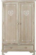 Greyed Pine Wood Closet