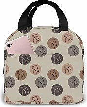 Greyhound Florals Fabric Lunch Bags Insulated