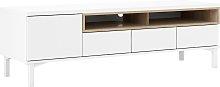 Greyson 1 Door 3 Drawer TV Unit - White & Oak