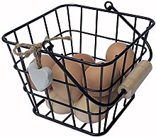 GreyZouq Large Country Style Wire Egg Basket in