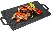 Griddle Pan, Cast Iron Griddle Plate Thickened BBQ