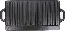 Griddle Pan Cast Iron Reversible Grill Plate