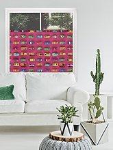 Gridlock Pink By Ella Doran Digital Printed Bottom