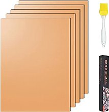 Grill Baking Mat,5Pcs Copper BBQ Mat with Silicone