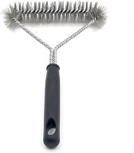 Grill Brush, Stainless Steel, Black?Barbecue