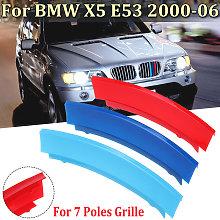 Grill Cover Stripe Clip For BMW X5 E53 2000-2006 7