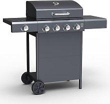 Grill Master 4 Burner Barbecue with Side Burner -