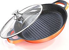 Grill Pan -Non Stick Cast Aluminium Griddle with