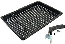 Grill Pan With Rack and Detachable Handle for